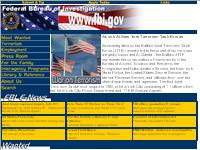 Thumbnail of the FBI's website.